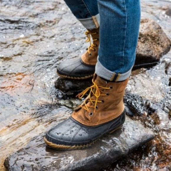 NEW Mens Sorel Cheyanne Lace Full Grain Duck Boots 71e9726a9b77c